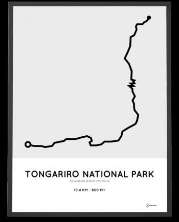 Tongariro Alpine crossing route poster