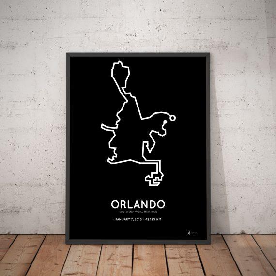 2018 Walt Disney World marathon coursemap print