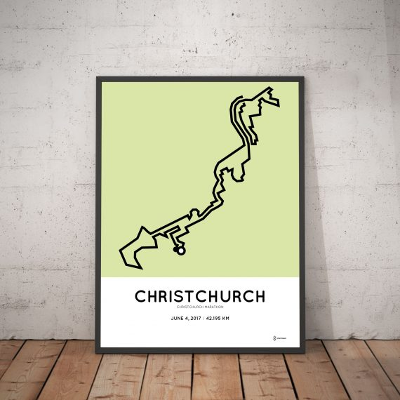2017 christchurch marathon route print