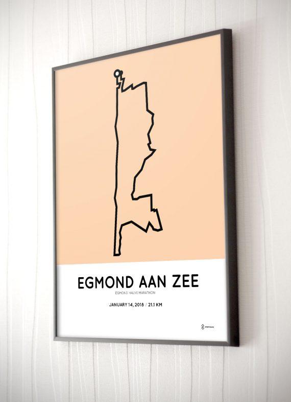 2018 egmond halve marathon routekaart print