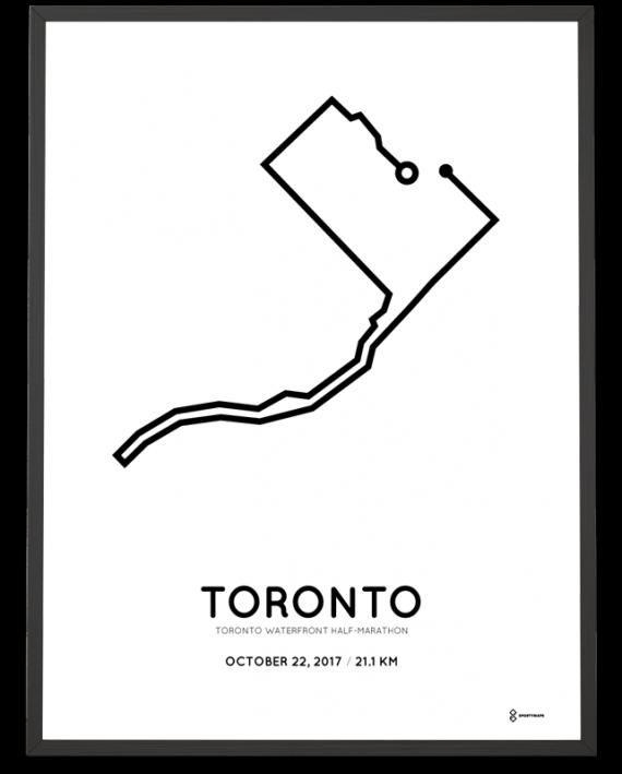2017 Toronto Waterfront half marathon course poster