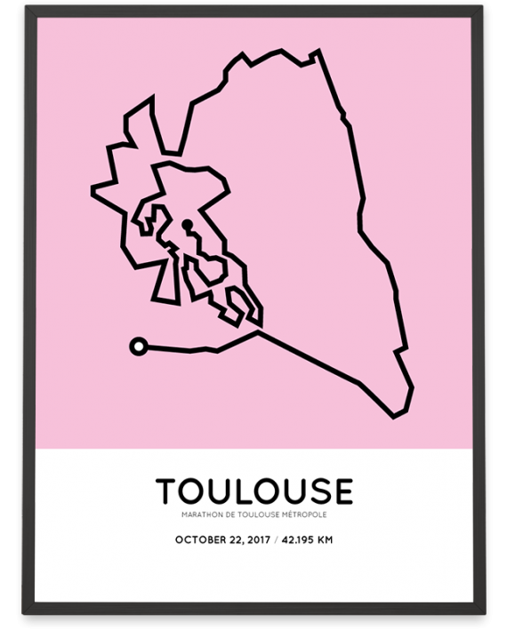 2017 Marathon de Toulouse Métropole parcours print