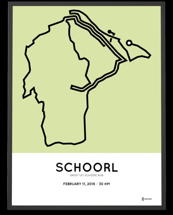 2018 Groet uit Schoorl run 30km route poster