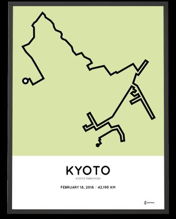 2018 Kyoto marathon route poster