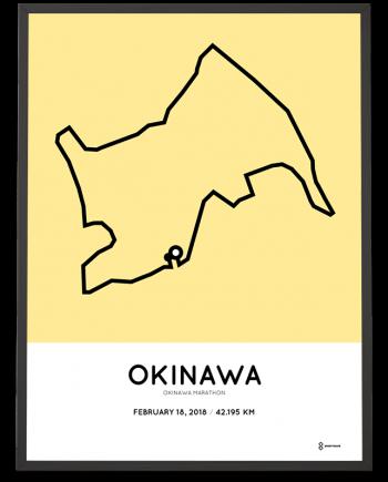 2018 Okinawa marathon course poster