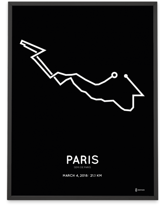 2018 Paris half marathon parcours poster
