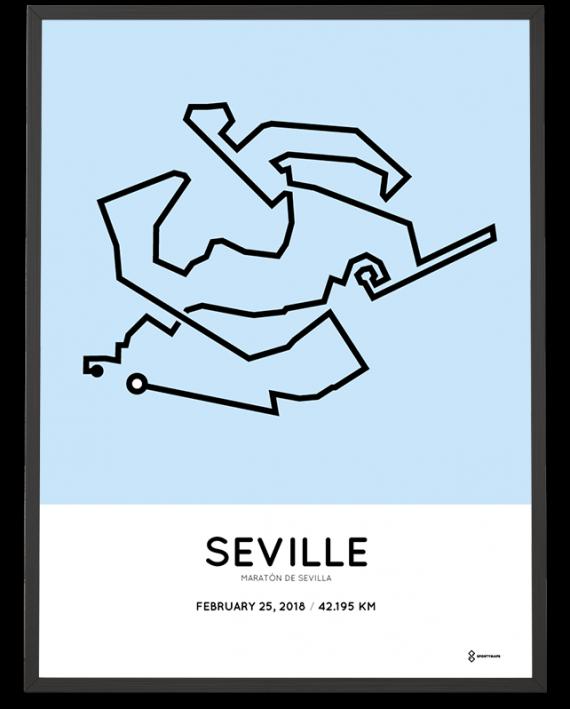 2018 Maratón de Sevilla course poster