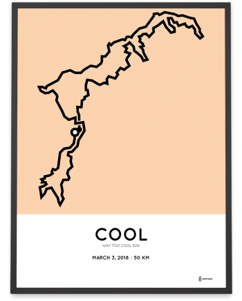 2018 Way too cool 50k course poster