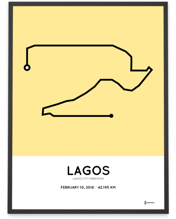 2018 lagos city marathon course poster