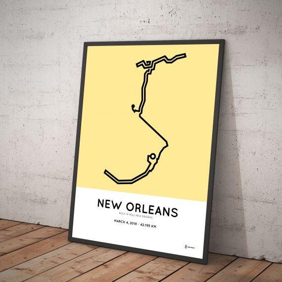 2018 Rock 'n' Roll New Orleans marathon parcours poster