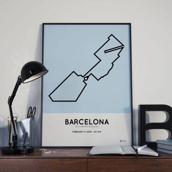 2018 barcelona half marathon parcours print
