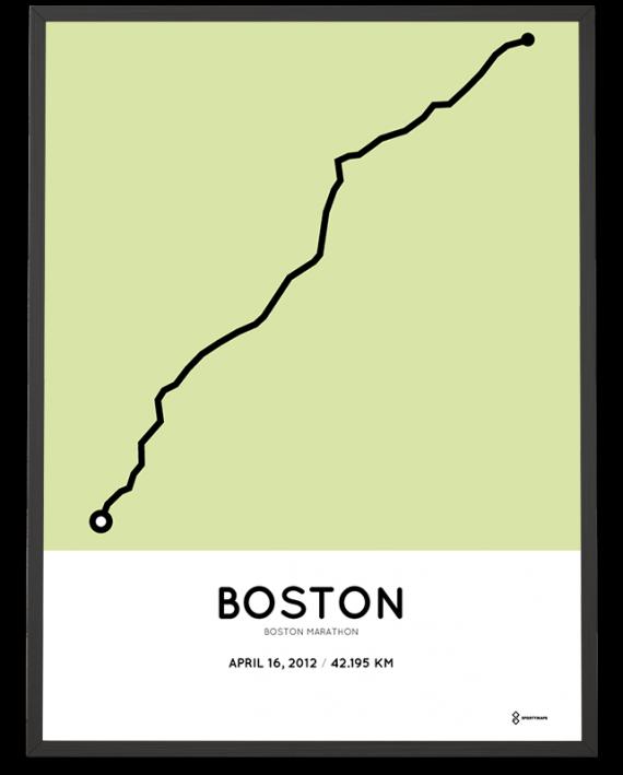 2012 Boston marathon course poster