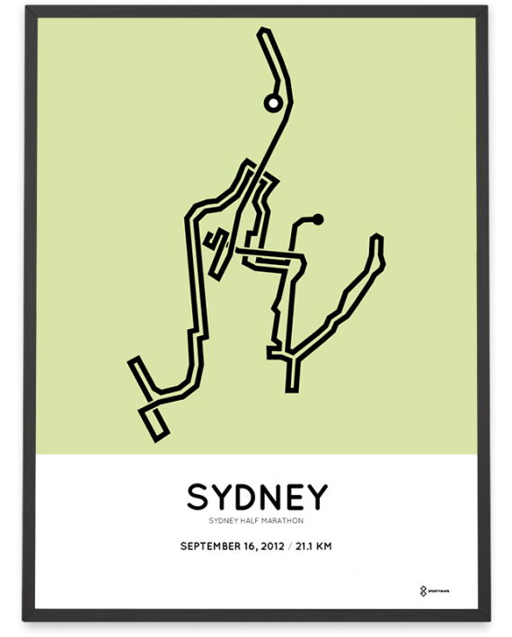 2012 Sydney half marathon course print