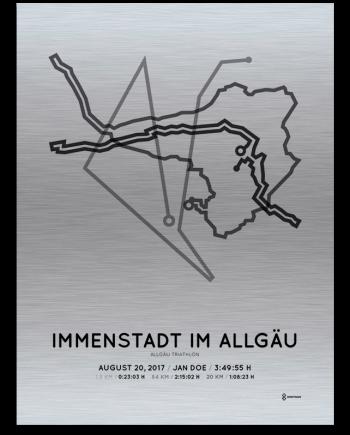 2017 Allgau triathlon aluminum course print