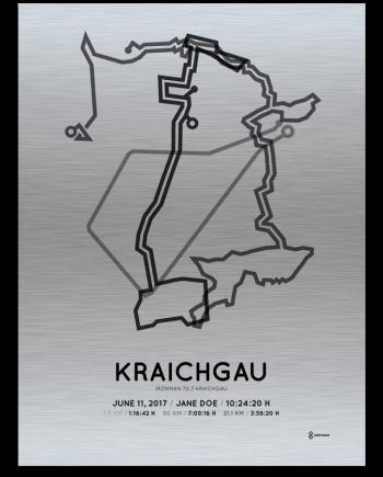 2017 Ironman 70.3 Kraichgau aluminum course print
