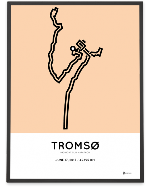 2017 Tromso marathon course poster