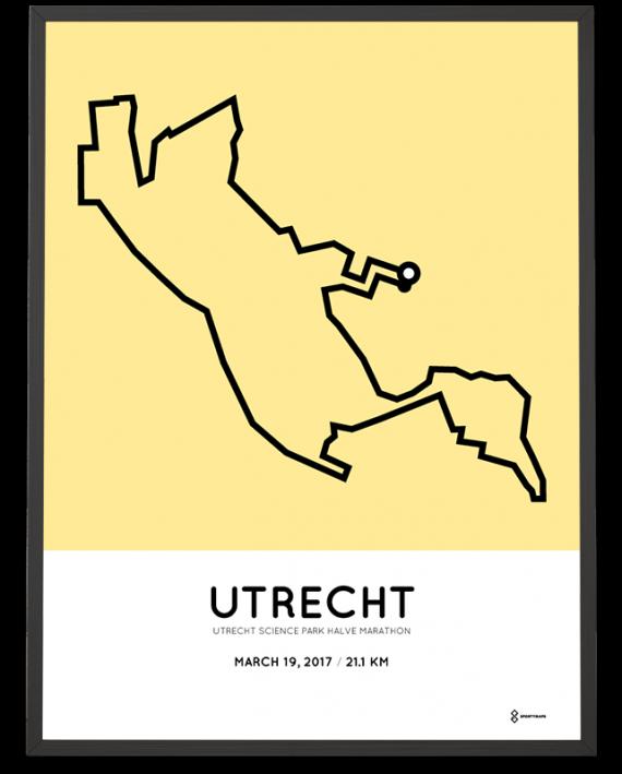 2017 Utrecht Science Park halve marathon parcours poster