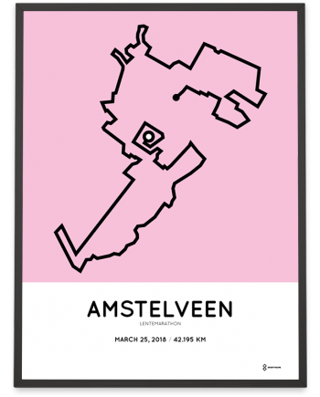 2018 Amstelveen lentemarathon route poster