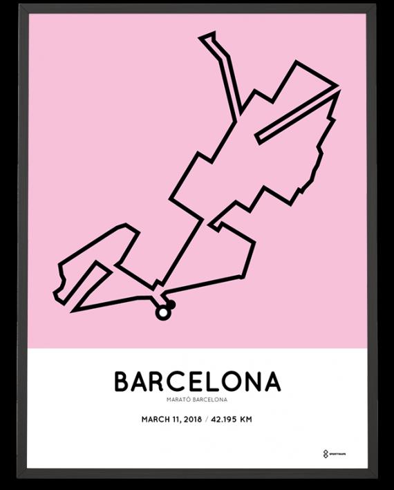 2018 Marato barcelona course poster