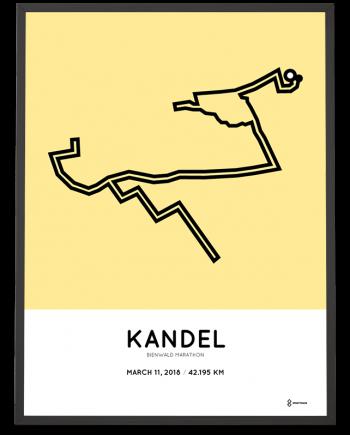 2018 Bienwald marathon streckemap poster