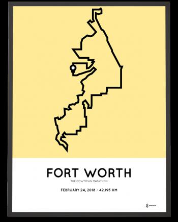 2018 The Cowtown marathon route poster