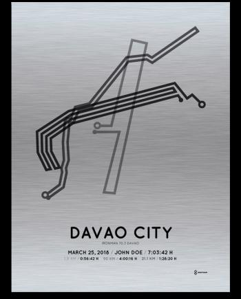 2018 Davao Ironman 70.3 aluminum route print