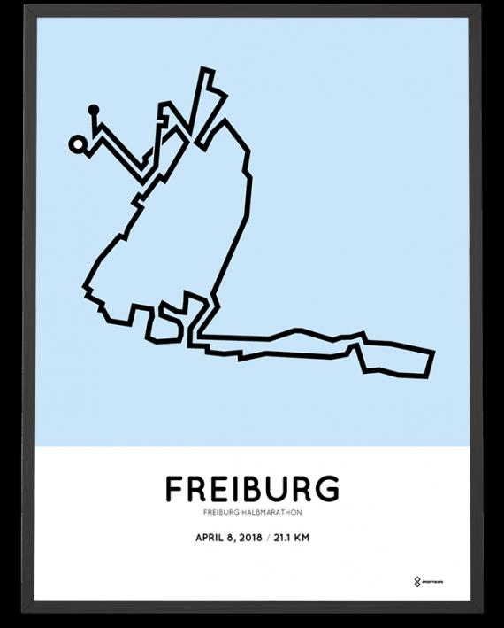 2018 Freiburg half marathon course poster
