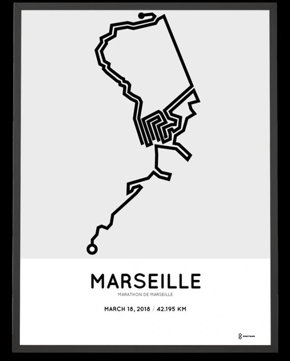 2018 Marathon de Marseille parcours poster