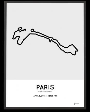 2018 Marathon de Paris parcours poster