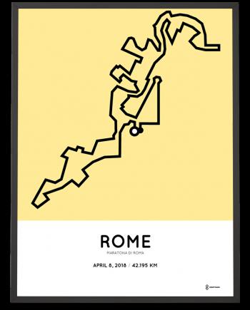 2018 Maratona di Roma percorso poster