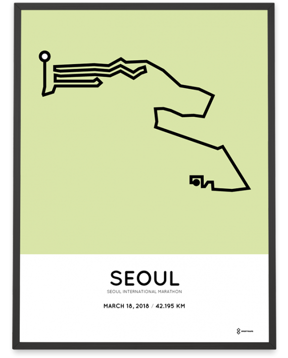 2018 Seoul marathon course poster