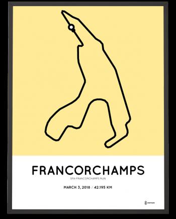 2018 Spa-Franchorchamps run marathon parcours poster