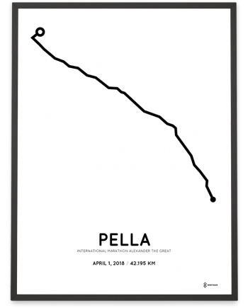 2018 Pella-Thessaloniki marathon course poster