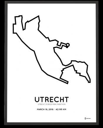 2018 Utrecht Science Park marathon route poster