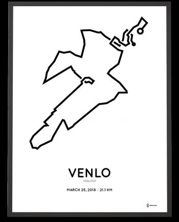 2018 Venloop half marathon parcours poster
