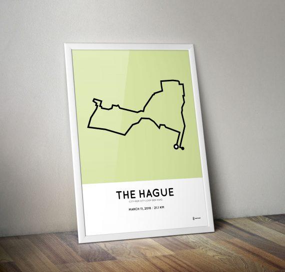 2018 City-Pier-City loop halve marathon parcours poster