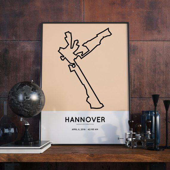 2018 Hannover marathon strecke map print