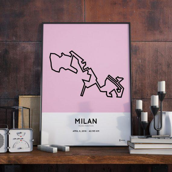 2018 Milan marathon parcours print
