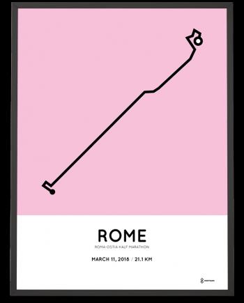 2018 Roma-Ostia half marathon course poster