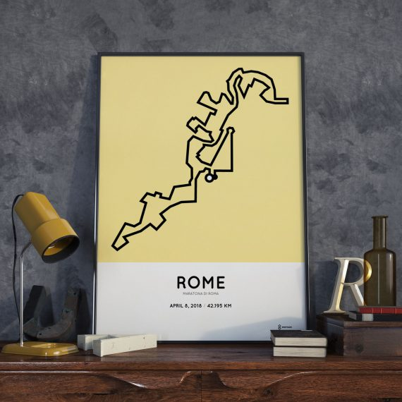 2018 Rome marathon route poster