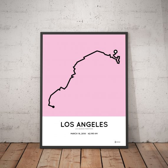 2018 la marathon course map poster