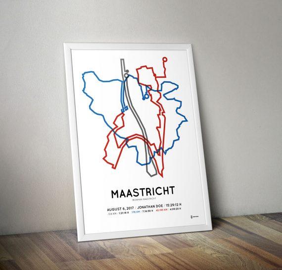 2017 Ironman maastricht parcours print