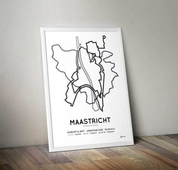 2017 Ironman maastricht route print