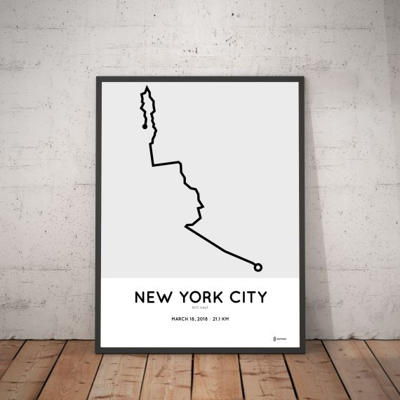 2018 nyc half course map poster