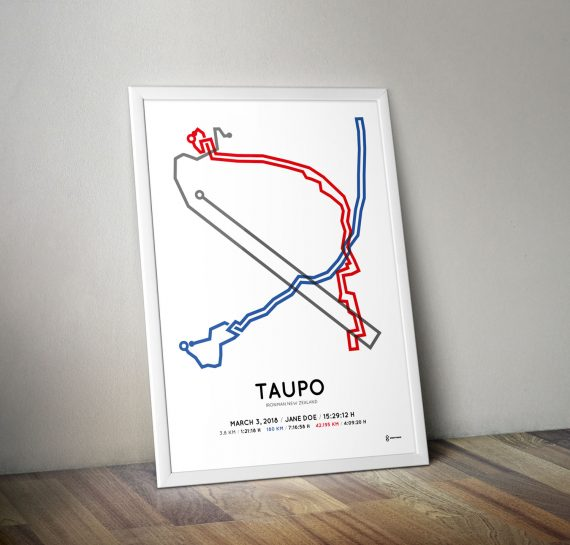 2018 Ironman Taupo New Zealand parcours poster