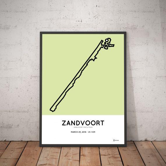2018 Zandvoort circuit run halve marathon parcours poster
