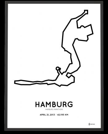 2013 Hamburg marathon route poster