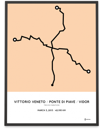 2013 Treviso marathon course poster