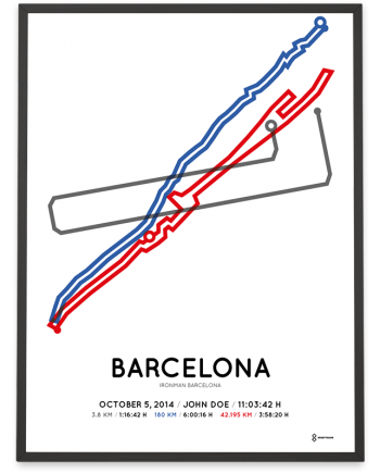 2014 Ironman Barcelona course poster