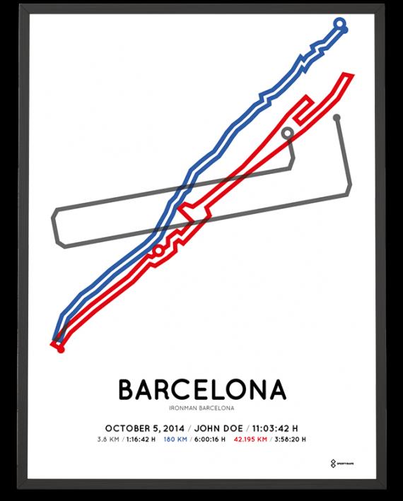 2014 Ironman Barcelona course poster